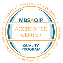 MBS QIP Accredited Center and Quality Program by American Society for Metabolic and Bariatric Surgery